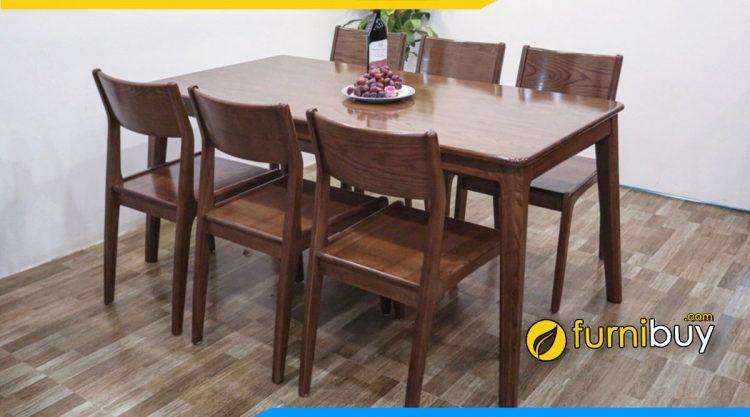 Bán bộ bàn ăn 6 ghế gỗ sồi nga đẹp giá rẻ Hà Nội