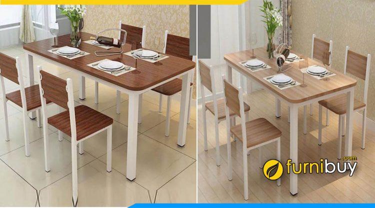 Mẫu bàn ăn đẹp gỗ công nghiệp MDF hiện đại