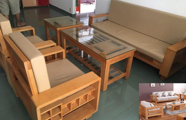 Bàn ghế sofa gỗ Sồi tự nhiên