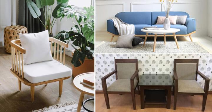 Ghế sofa gỗ phòng ngủ hiện đại