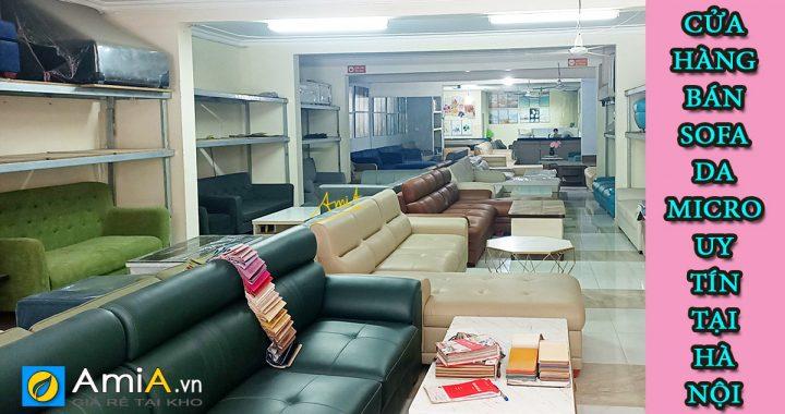 Cửa hàng bán ghế sofa da microfiber đẹp